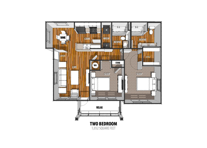 Floor Plan at La Contessa Luxury Apartments, Laredo