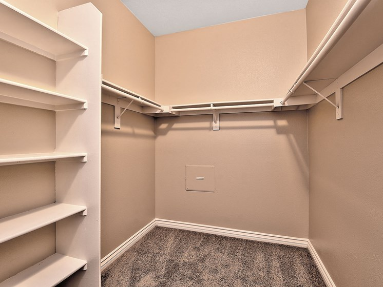 Generous Walk-In Closets With Shelving at TERRAZA DEL SOL, Rancho Cucamonga, CA