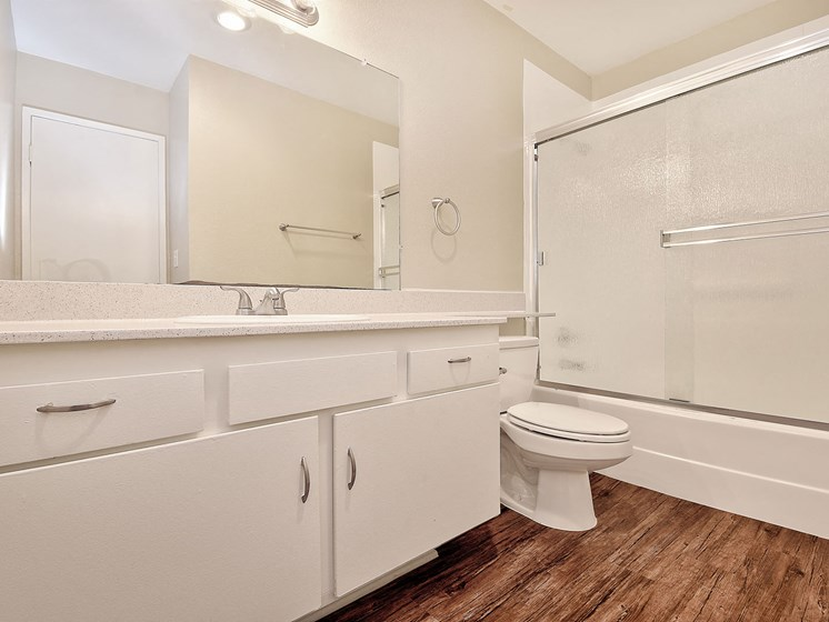 Bathroom With Storage at WOODSIDE VILLAGE, West Covina