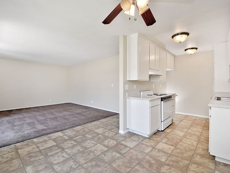 Attached Kitchen to Living at WOODSIDE VILLAGE, California, 91792