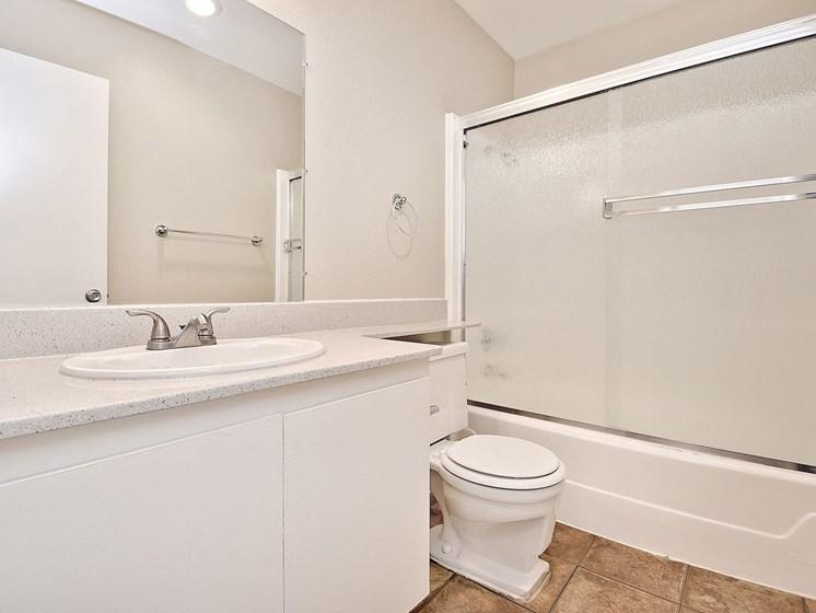 Bathroom With Adequate Storage at WOODSIDE VILLAGE, California, 91792
