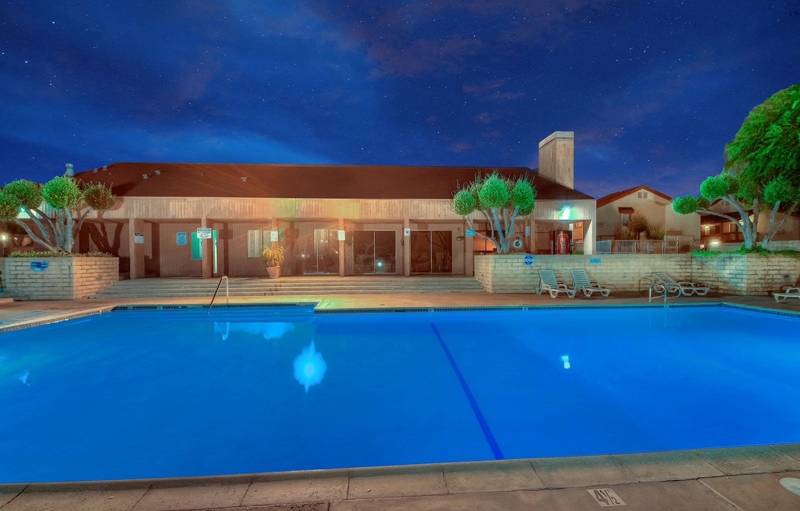 Sparkling Swimming Pool at WOODSIDE VILLAGE, California, 91792