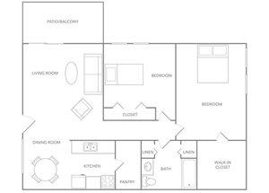 Floor plan at Paradise Palms, Phoenix