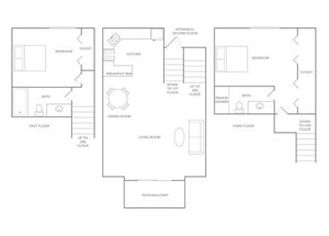Floor plan at Paradise Palms, Arizona, 85014