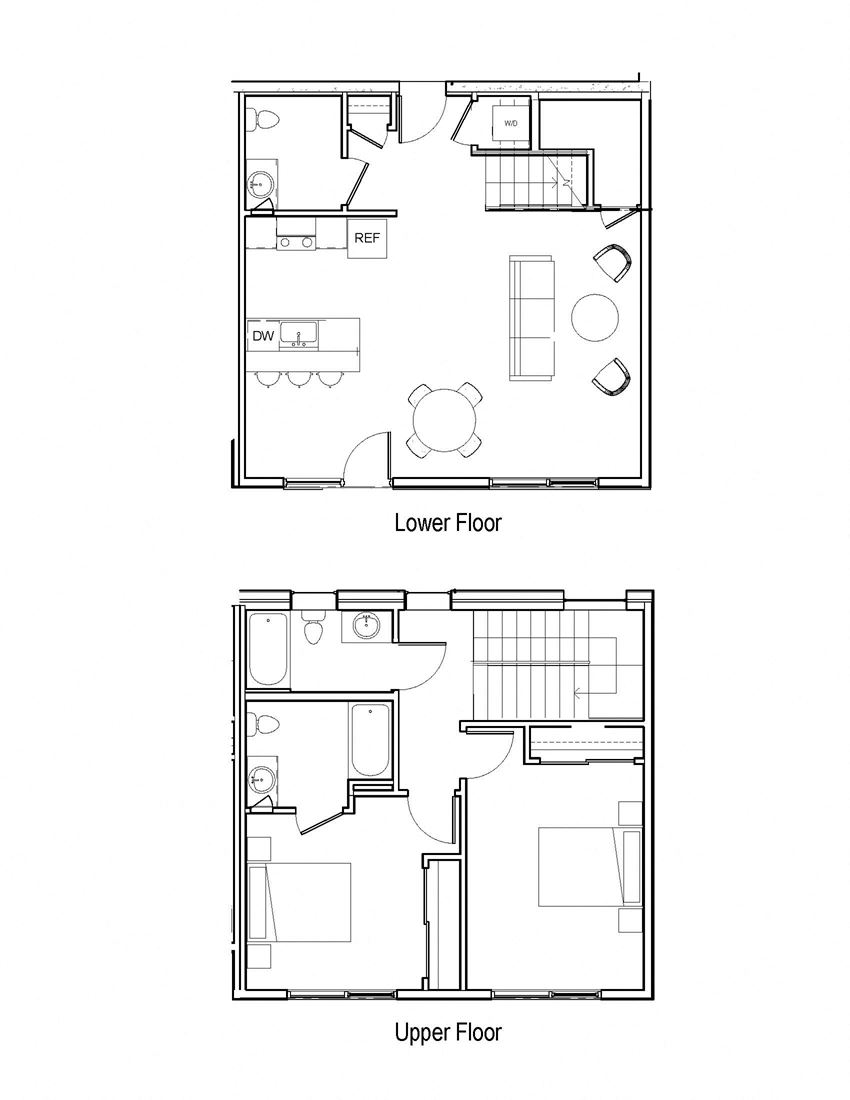 Two bedroom Loft High Ceilings Open Layout Now Leasing For Rent