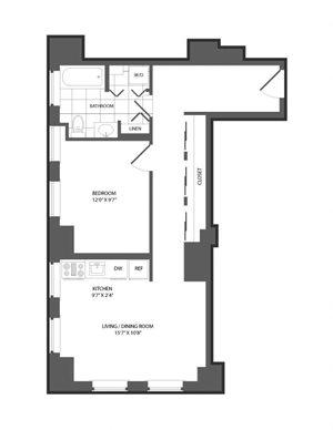Floor plan at The Republic, Philadelphia, PA