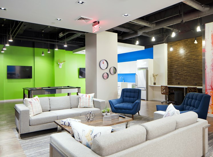 Renovated Resident Clubroom