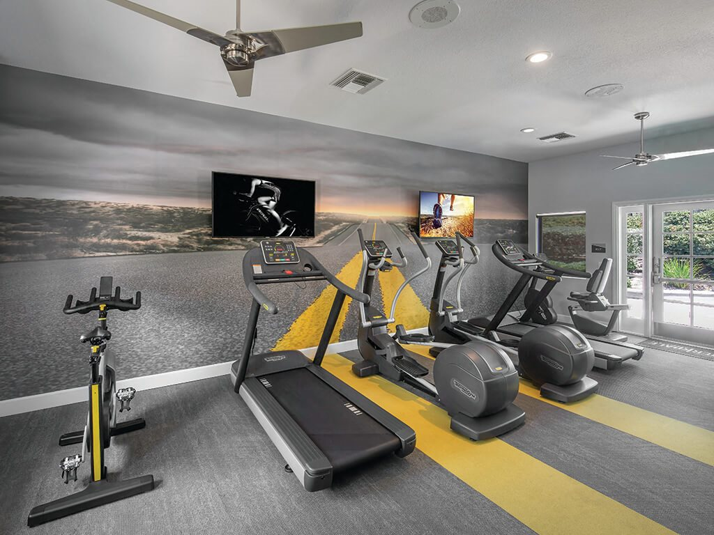Gym at Berkdale apartments in Riverside CA