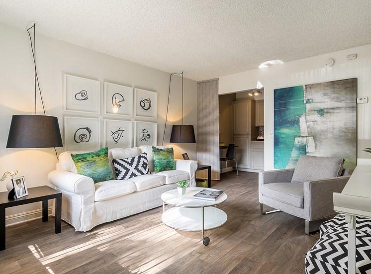 wood-look floors at Berkdale Apartments in Riverside, CA