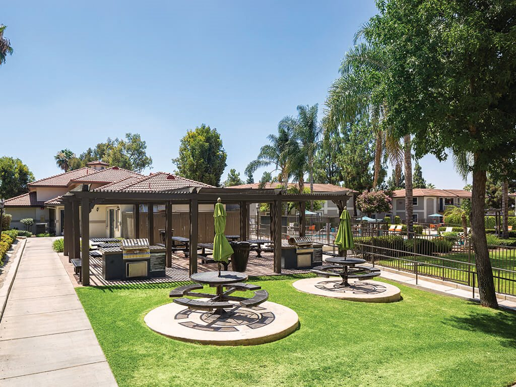 Picnic area at Berkdale apartments in Riverside CA