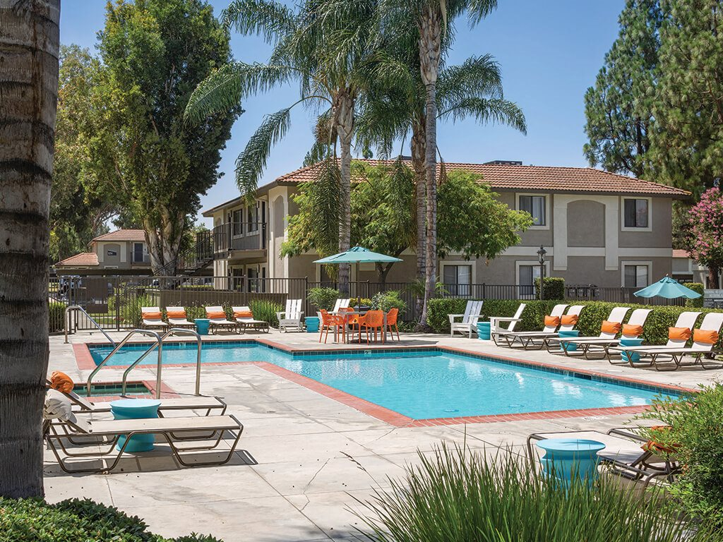 Pool at Berkdale apartments in Riverside CA