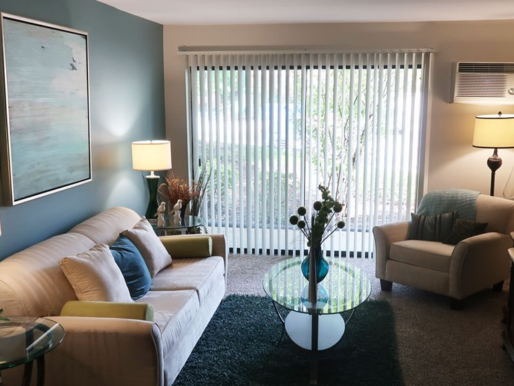 Living Room at The Moorings in Roselle Illinois