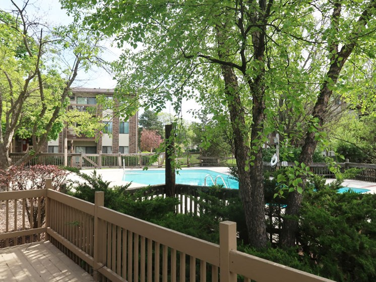 Outside at The Moorings Apartments in Roselle Illinois