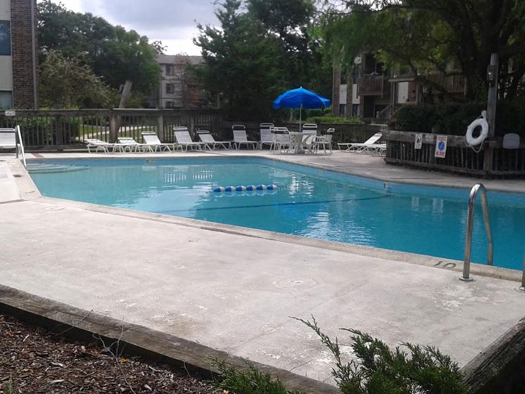 Lounging by the Pool at The Moorings, Roselle, IL, 60172
