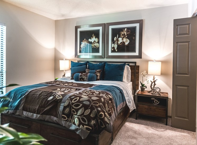 bedroom at apartments in Northwest Raleigh NC
