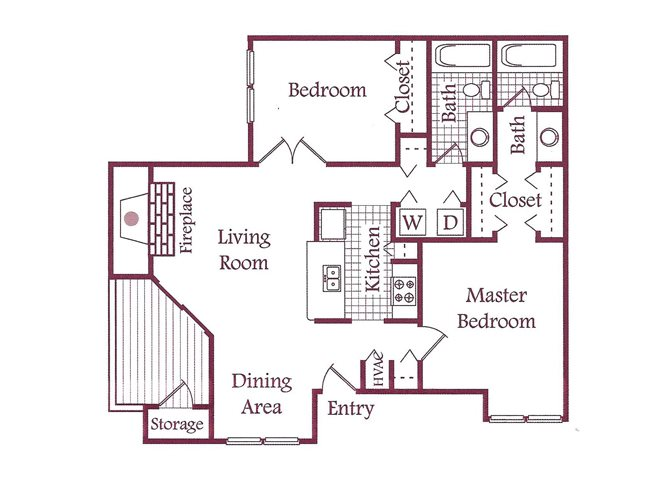 Two bedroom at The Timbers Apartments