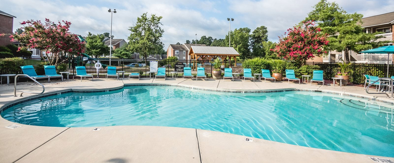 Pool at The Trestles Apartments in Raleigh NC