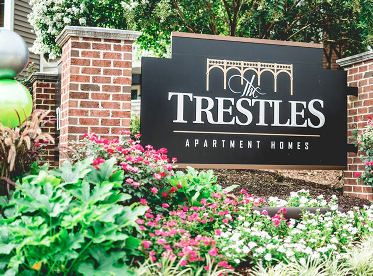 The Trestles Apartments Sign