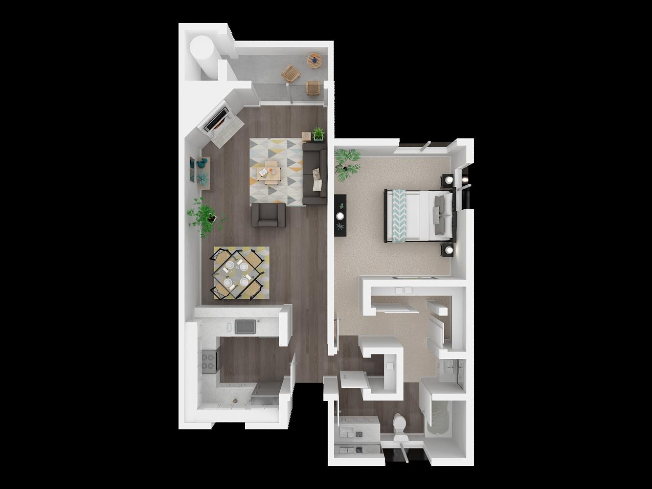 View Floor Plans of Ellington Apartments in Davis, CA