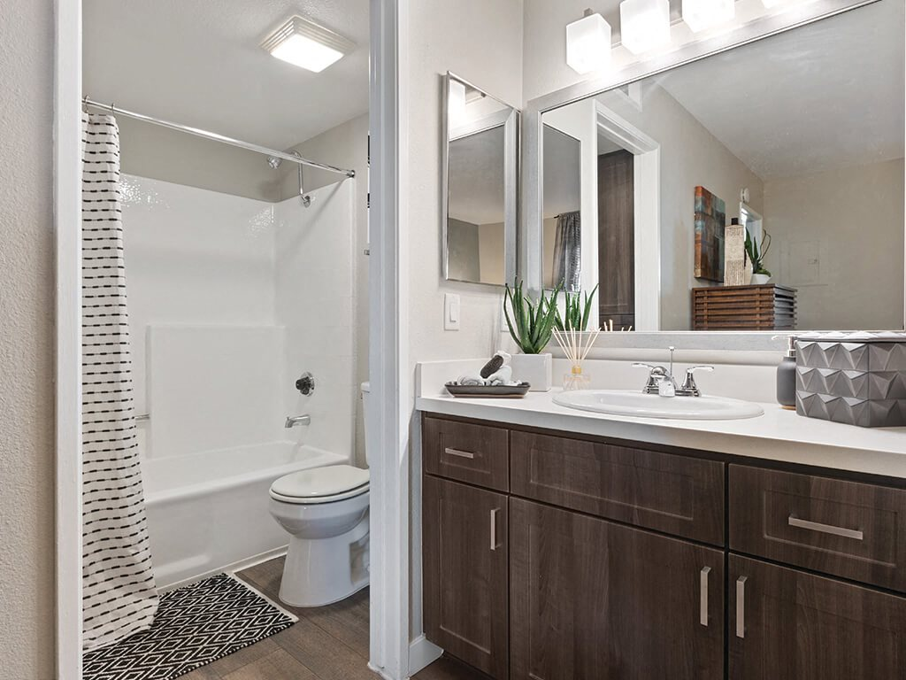 Bathroom at Hensley at Corona Pointe Apartments