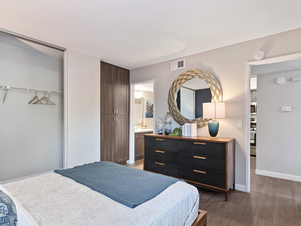 Bedroom at Hensley at Corona Pointe Apartments