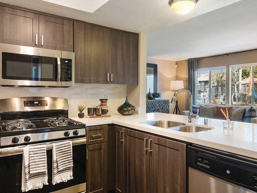 Espresso Kitchen at Hensley at Corona Pointe Apartments in Corona, CA