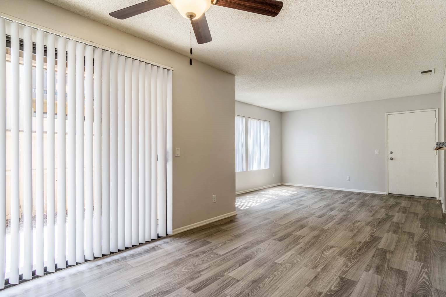 Plank flooring at Hensley at Corona Pointe Apartments in Corona, CA