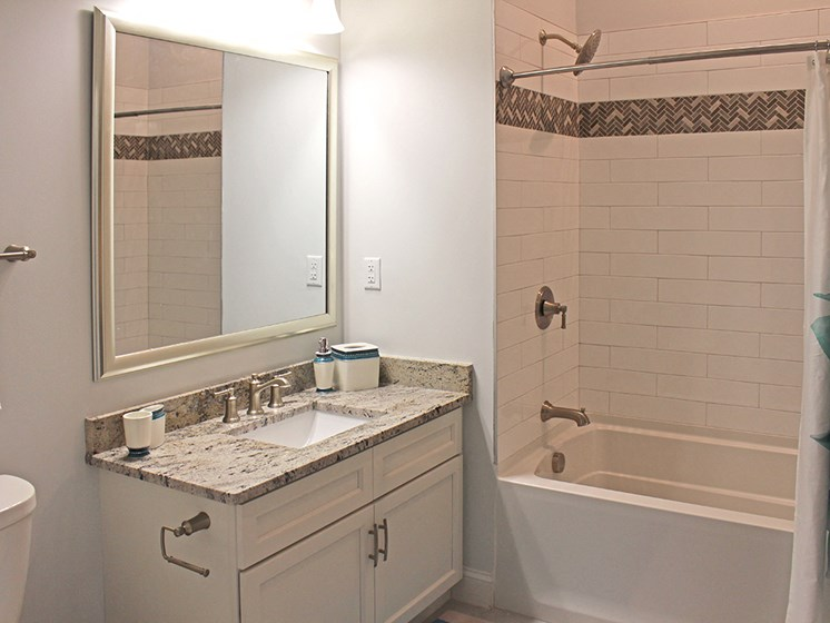 Large Soaking Tub In Bathroom at Residences at Halle, Cleveland, OH, 44113