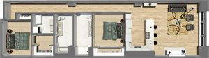 Suite Style 12 - 2 Bedrooms 2 Baths