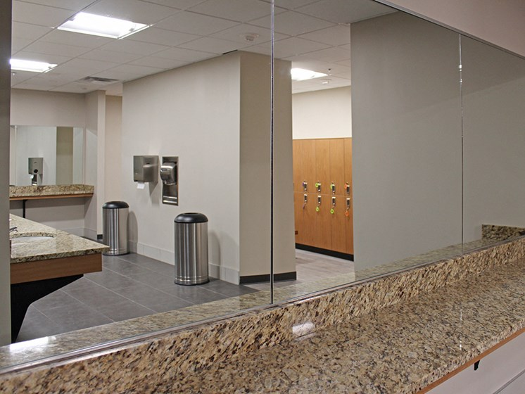 Locker Room at Residences at Halle, Cleveland, 44113
