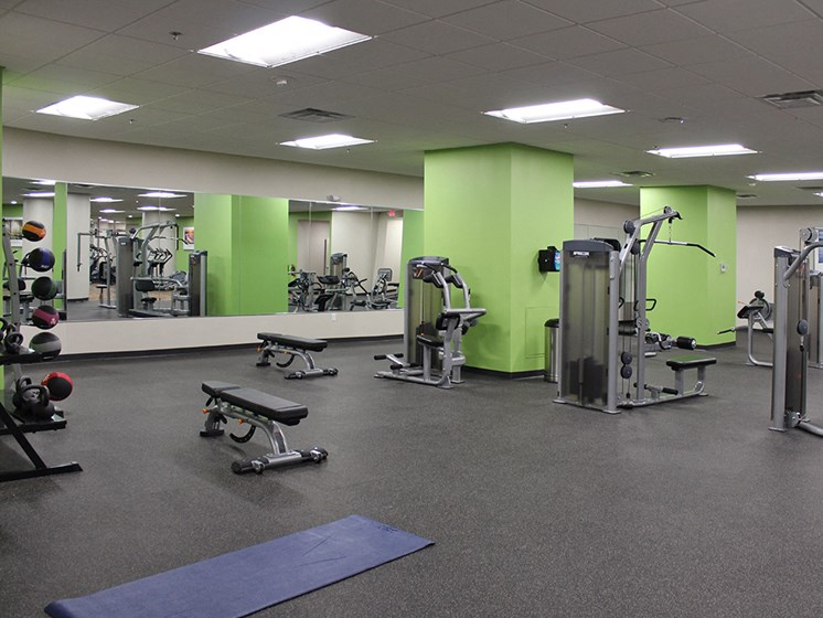 World-Class Fitness Center at Residences at Halle, Ohio