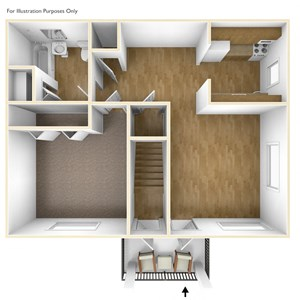 Two Bedroom Apartment Floor Plan Pheasant Hill Estates