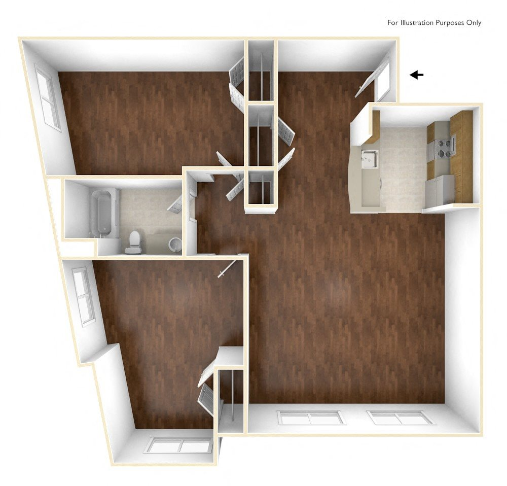 Two Bedroom Apartment Floor Plan Old Colony Apartments