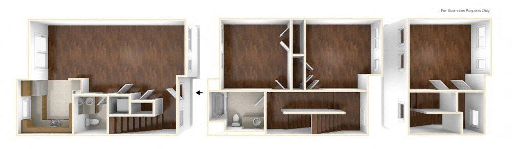 Three Bedroom Apartment Floor Old Colony Apartments