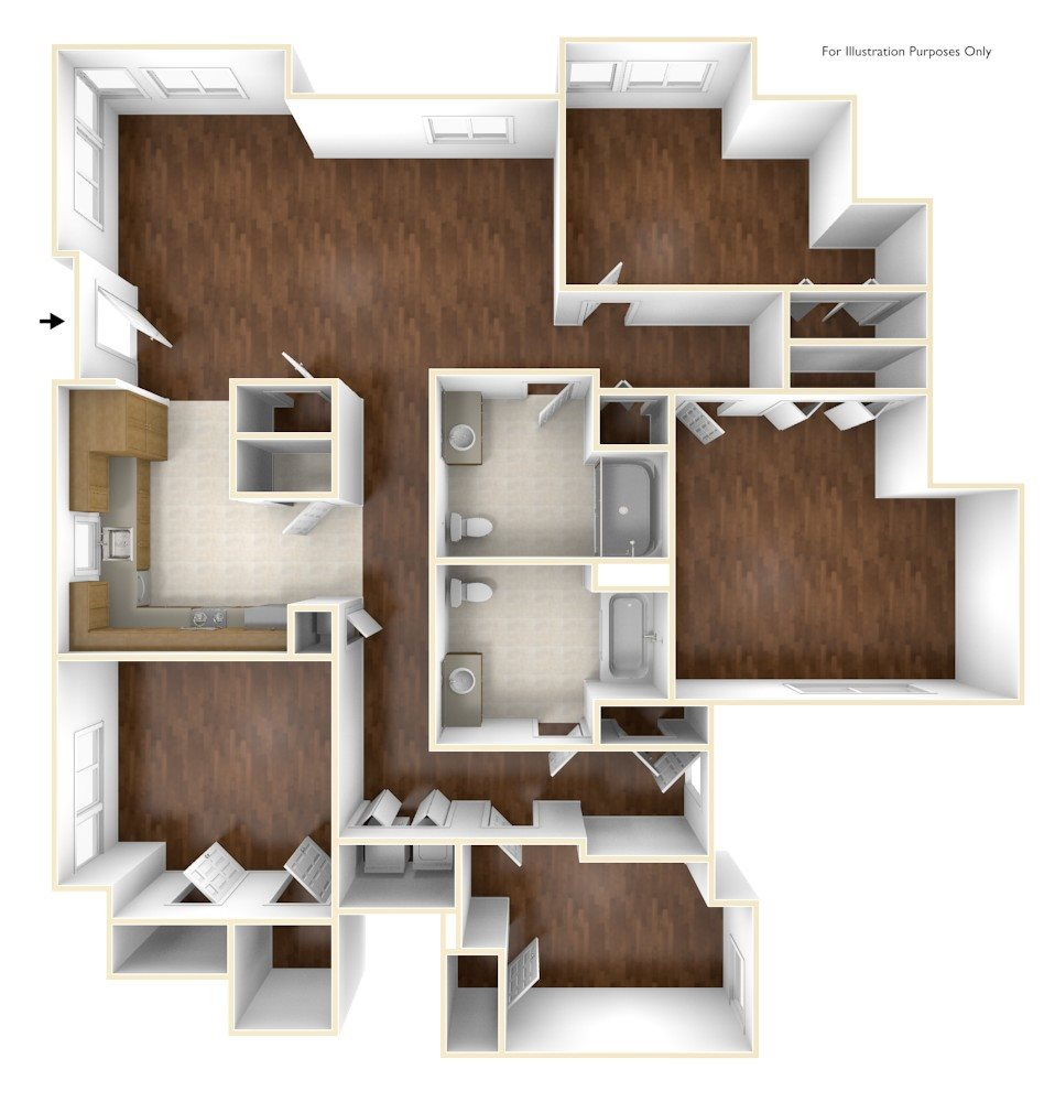 Four Bedroom Apartment Floor Old Colony Apartments