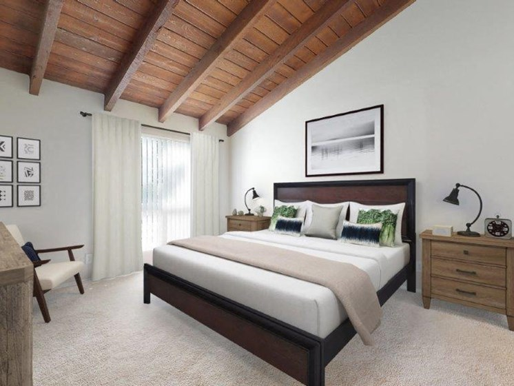 The Artisan Claremont Model Master Bedroom and Wood Ceiling