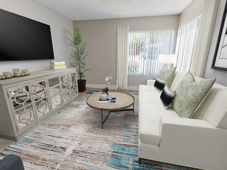 The Artisan Claremont Two Bedroom Living Room