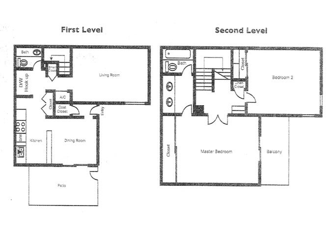 The Claremont_Claremont CA_Floor Plan_Morning Glory_2 Bedroom 2 Bathroom