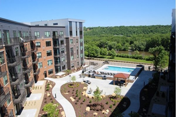 Multi-Use Courtyard will Pool & Grilling Stations