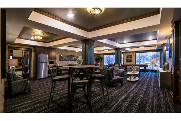 Reside Clubroom at V2 Apartments with Shuffleboard