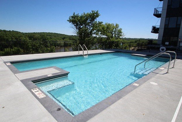 V2 Pool Overlooking Mississippi River