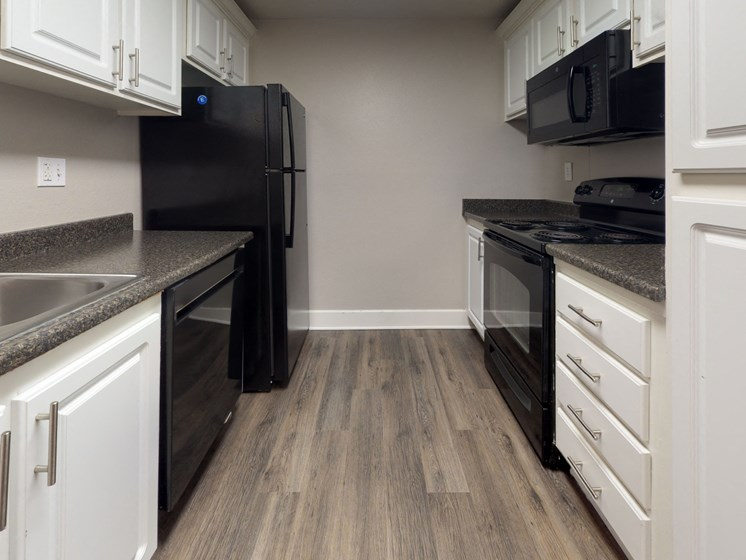 Mountain View Apartments Kitchen Counter and Appliances