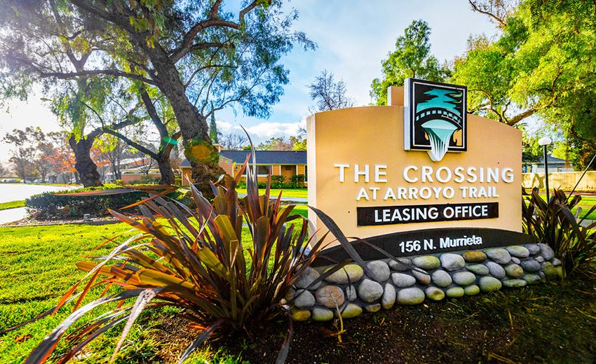 Crossing at Arroyo Trail Apartments Monument Sign
