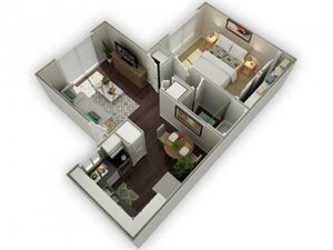 Ironwood Apartments Westover 3D Floor Plan