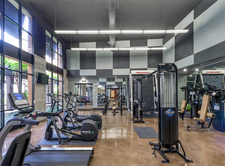 High-Tech Fitness Center at The Madison at Town Center, Valencia