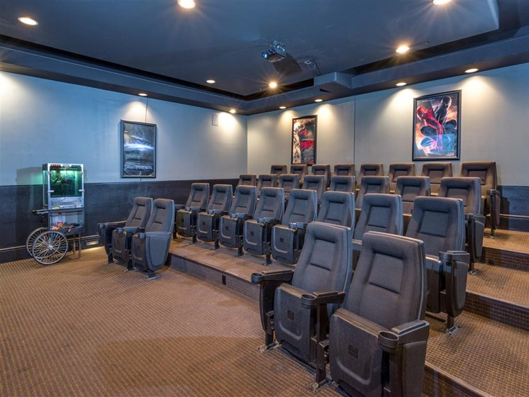 Community Theater Room at The Madison at Town Center, Valencia, California