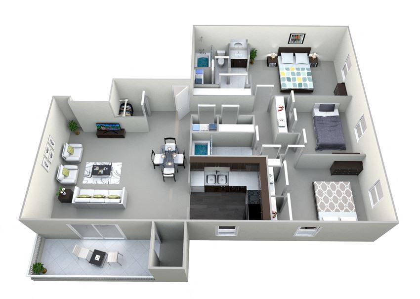Dresden 3 Bed 2 Bath Floor Plan at Northville Woods - Northville, MI, Northville, Michigan