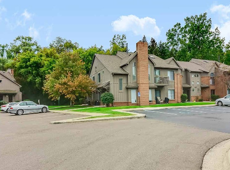 Spacious Parking Available at Northville Woods - Northville, MI, Northville