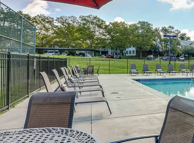 Poolside Dining Tables at Northville Woods - Northville, MI, Michigan, 48168