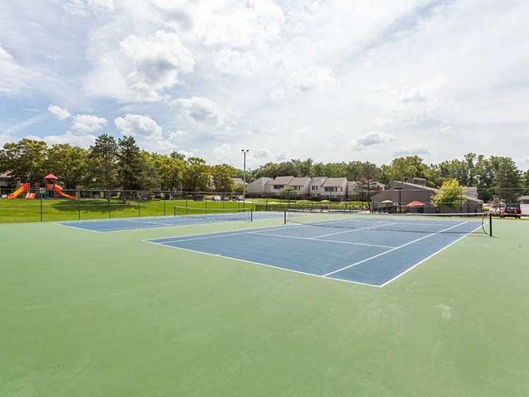 Two New Tennis Courts, at Northville Woods, Michigan, 48168